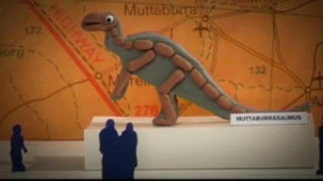 Berömda dinosaurier - romani chib/arli : Någon stal Muttaburran