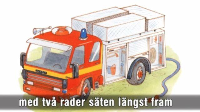 Läs-med-sagor : Här kommer brandbilen