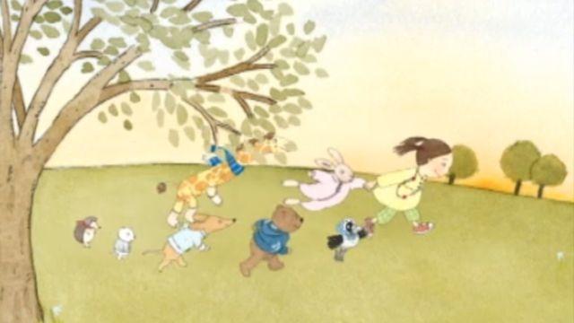 Läs-med-sagor : Fia och djuren