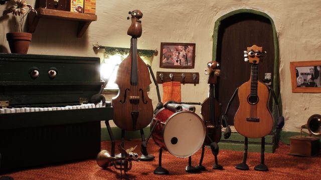 Musiken har landat : Bygga egna instrument