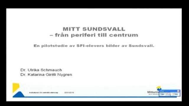 "UR Samtiden - Genusmaraton : ""Mitt Sundsvall"""