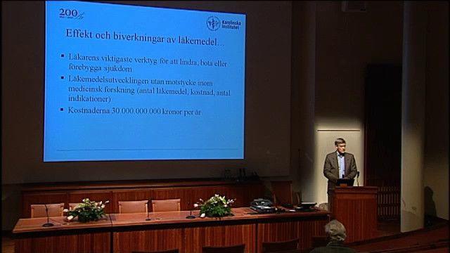 UR Samtiden - KI 200 år: Populärvetenskapliga föreläsningar : Medicin - effekter och biverkningar