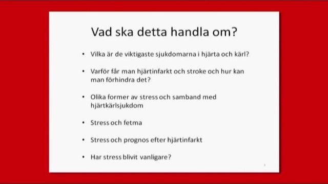 UR Samtiden - Stress och hjärta