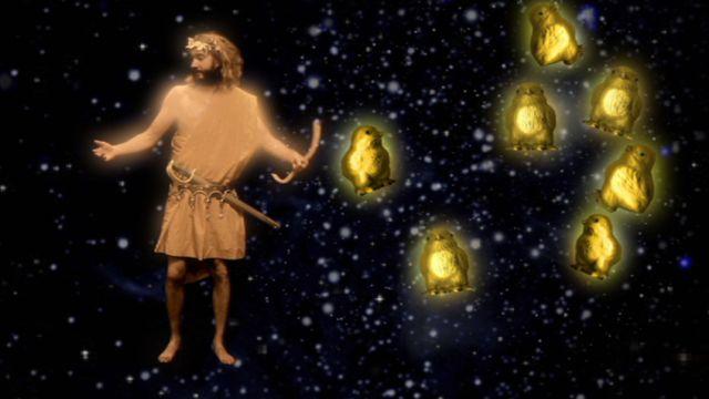Himlagrisar och stjärnkastruller : Orion och plejaderna