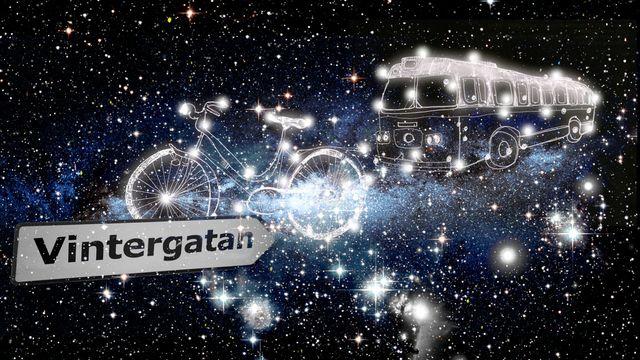Himlagrisar och stjärnkastruller : Vintergatan