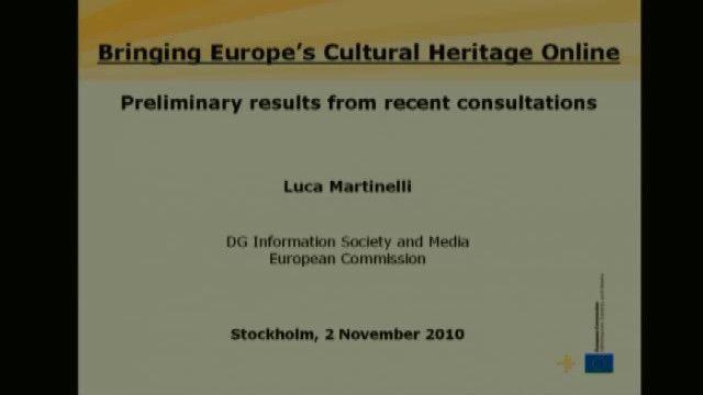 UR Samtiden - Digitalt kulturarv : EU:s kulturarv på nätet