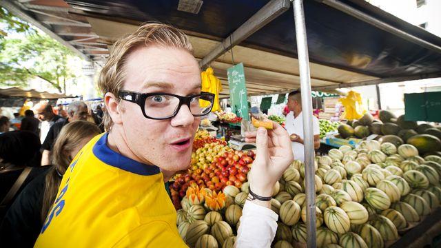 Anders vs franska : Anders går på marknad