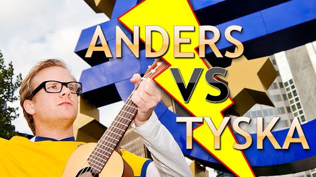 Anders vs tyska : Anders kommer fram