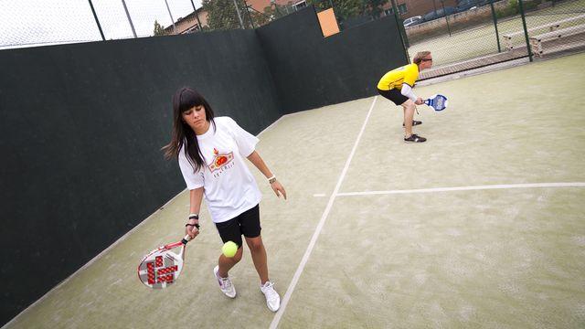 Anders vs spanska : Anders spelar padel