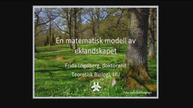 UR Samtiden - Vidga världen : En matematisk modell av eklandskapet