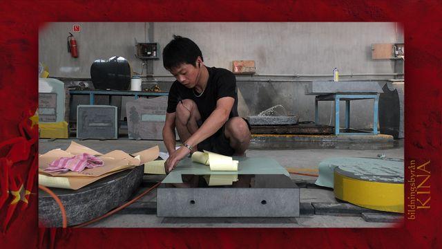 Bildningsbyrån - Kina : Bryta sten