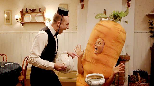 Hotell Kom som du är : Det vet man ju hur morötter är!