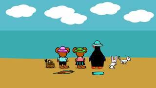 Pinos dagbok: Pino på stranden