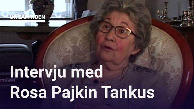 UR Samtiden - Förintelsens överlevande berättar : Rosa Pajkin Tankus - Utanför stod en norsk polis