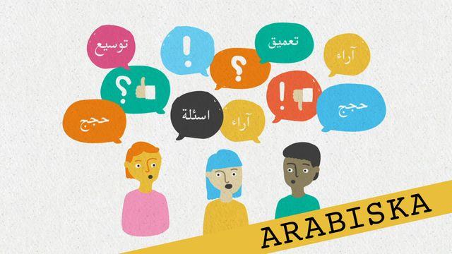 Förstå kunskapskraven - arabiska : Att föra en diskussion framåt
