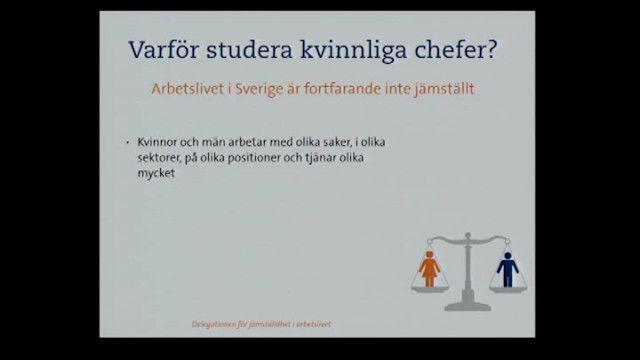 UR Samtiden - Kvinnliga chefers arbetsförhållanden, karriär och hälsa