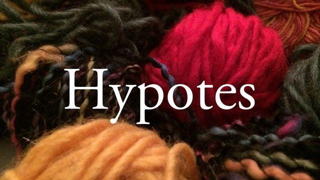 Bildningsbyrån - ordförrådet : Hypotes