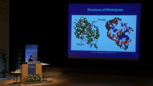 UR Samtiden - Nobelföreläsningar 2015 : Aziz Sancar, kemi
