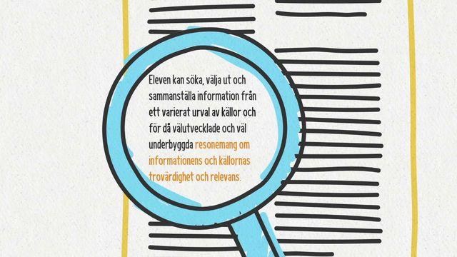 Förstå kunskapskraven : Att resonera om källans trovärdighet och relevans