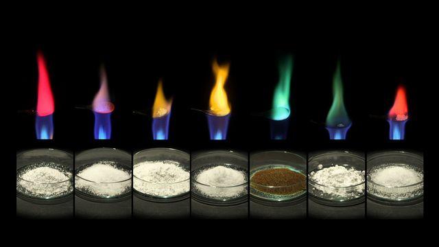 Gigantiska experiment : Sätt färg på elden
