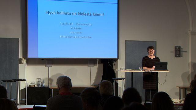UR Samtiden - Språkseminarium i finska 2016 : Förvaltning på klarspråk