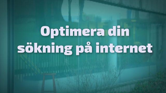 Orka plugga : Optimera din sökning på internet