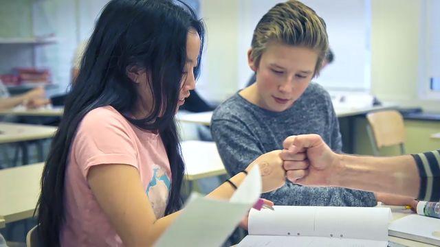 Lärarna på Skranta - lär av varandra : Utdelning av prov
