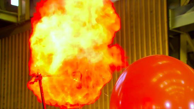 Kemiexperiment : Vätgasballong