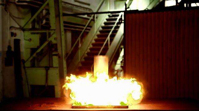 Kemiexperiment : Vätgasbomb