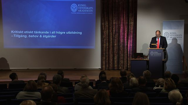 UR Samtiden - Kritik och etik i högre utbildning : Arbetslivs- och samhällsetik