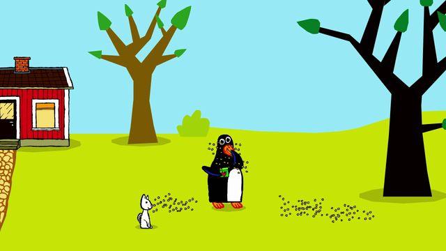 Pinos dagbok - syntolkat : Pinos trädgård