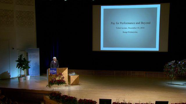 UR Samtiden - Nobelföreläsningar 2016 : Bengt Holmström, ekonomi