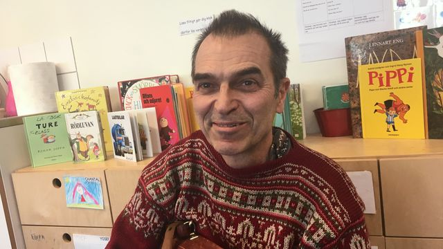 Lärarrummet : Han brinner för sagostunden