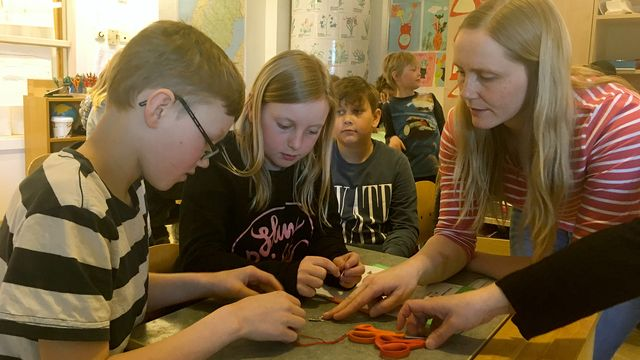 Lärarrummet : Fjärilslarver i klassrummet