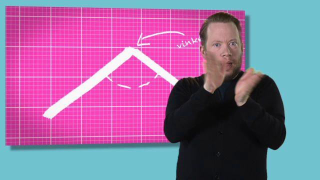 Kalkyl - teckenspråkstolkat : Vinklar