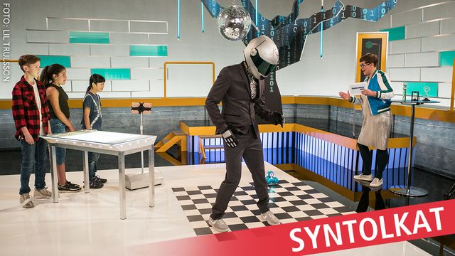 Programmera mera 2.0 - syntolkat : Robotar