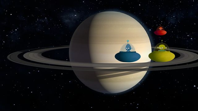 Vims i rymden - syntolkat : Saturnus, Uranus, Neptunus