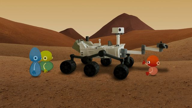 Vims i rymden - syntolkat : Mars