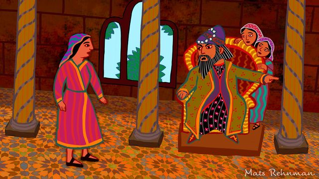 Arabiska sagor : Kungen och hans tre döttrar