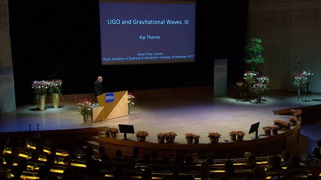 UR Samtiden - Nobelföreläsningar 2017 : Kip S Thorne, fysik