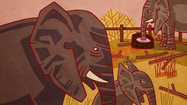 Godnattsagor - nordsamiska : Elefant