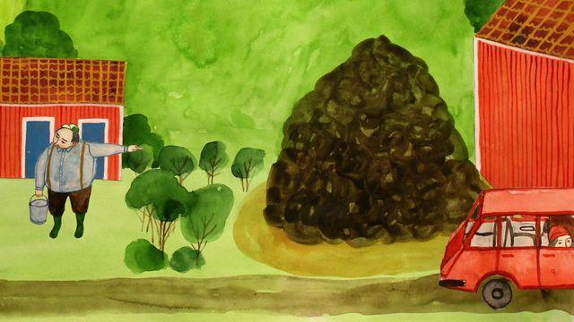 Godnattsagor - nordsamiska : En riktig bajshistoria
