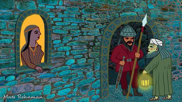 Arabiska sagor - arabiska : Den lilla lyktan