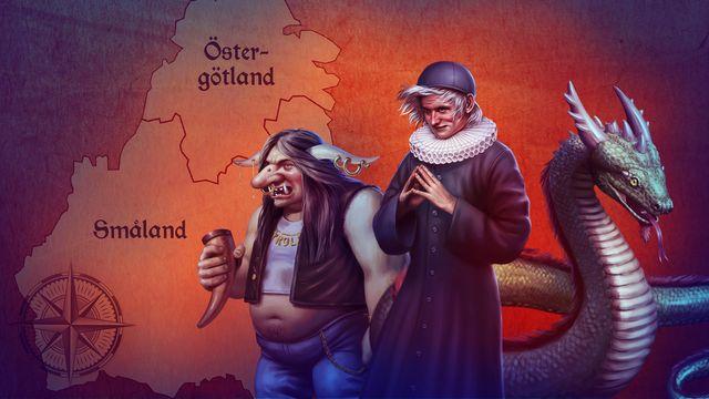Hamnskiftarens resa : Östergötland, Småland