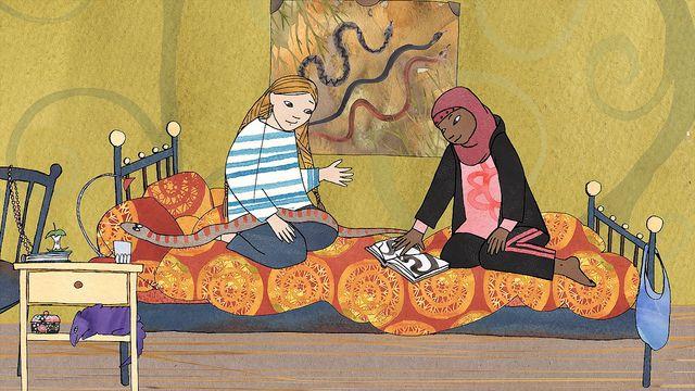 Läsa med - lulesamiska : Ormar i Flen