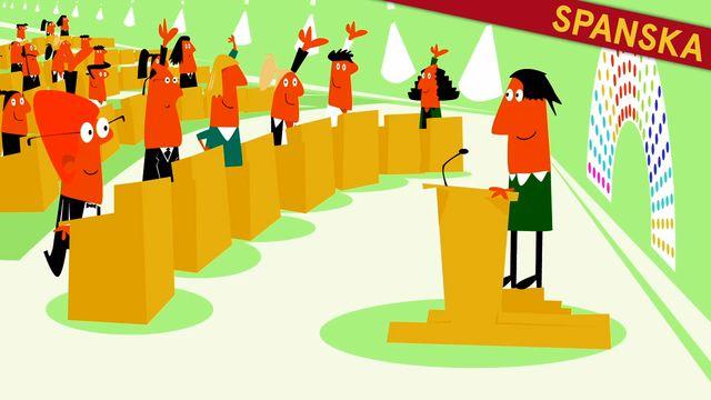 Nyfiken på Sverige - spanska : Den svenska demokratin