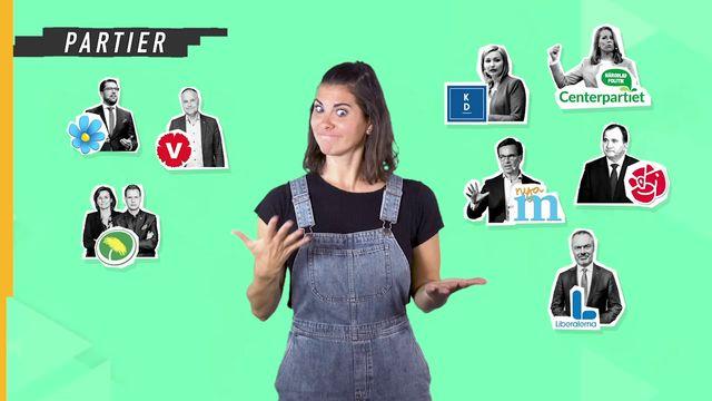 Lilla Aktuellt teckenspråk - Valet : Partier i riksdagen idag