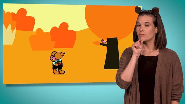 Pinos dagbok - teckenspråkstolkat : Pino och fågeln