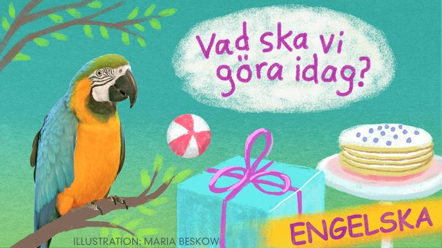 Vad ska vi göra idag? - engelska : Bengt och Bodil får besök