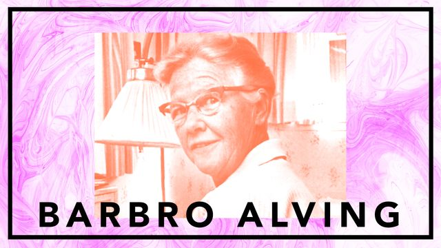 """Bildningsbyrån - tänka mot strömmen : Barbro """"Bang"""" Alving - krigsreporter för fred"""